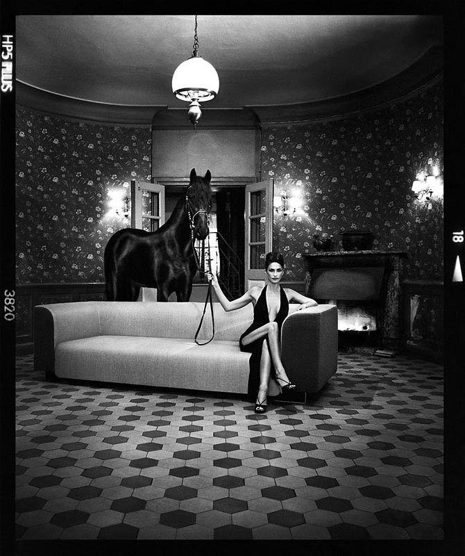 Szymon Brodziak, Horse  #photoinspirations #artisticphotography #artmarket #limitededition #artistoftheday #photography #fineart #collectorsphotography #buyart  #black&white #woman #horse
