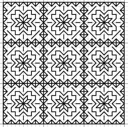 Imaginesque: Blackwork Star Fill Pattern