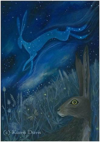 The Starlight Hare by karendavis on Etsy, £11.00