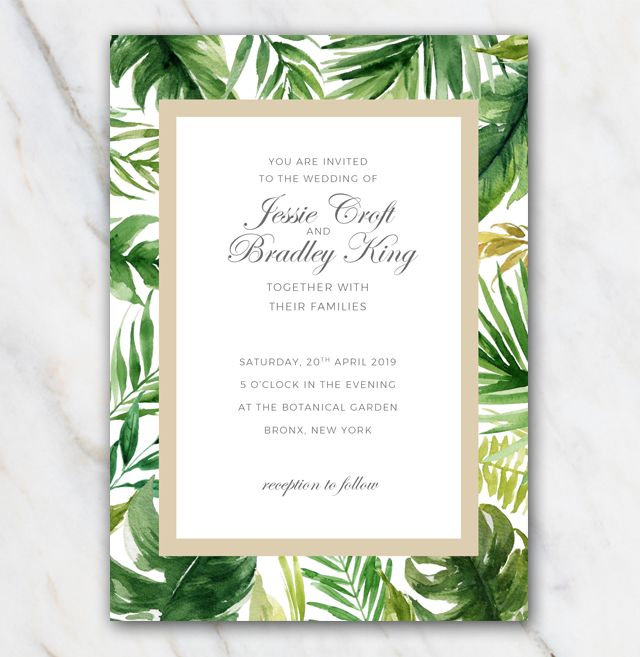 Tree Wedding Invitations, Wedding