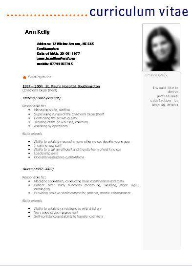Curriculum Cv Curriculum Resume Cv Resume
