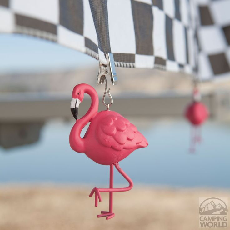 So cute!  Flamingo Tablecloth Weights - 4 Pack - Boston Warehouse 32717 - Picnic Supplies - Camping World