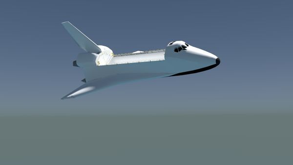 Space shuttle rendered with Blender. Download render files here: http://fetchcfd.com/view-project/328