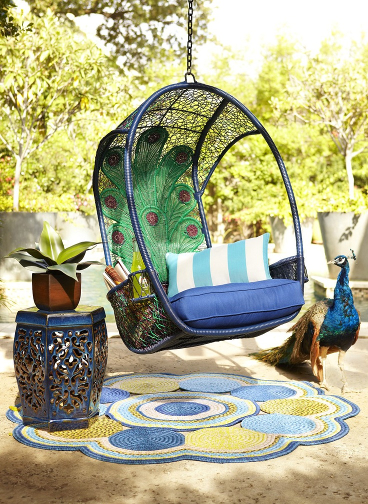 This chair is on our to buy list for our outdoor oasis party everyone will want to sit in it - Pier one peacock chair ...