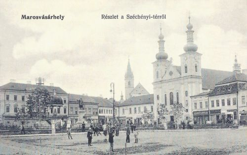 Takarékpénztár,Bodor kút,református és katolikus templomok.1905