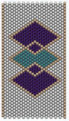 gyöngyfűzés: Egy látványos, mégis egyszerű peyote minta