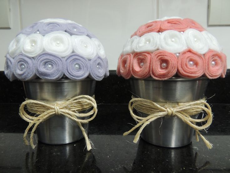 Vaso decorativo em feltro