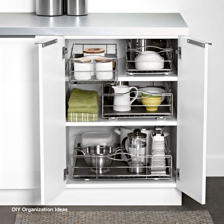 13 Easy To Do Diy Kitchen Organizers Kelly S Diy Blog In 2020 Kitchen Cabinet Organization Kitchen Organization Diy Kitchen Organization
