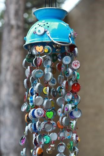 bottle cap wind chimes