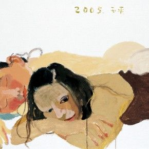 """Wang Yuping, """"Dog Days No.1"""", oil and acrylic on canvas, 74 x 104 cm, 2005"""