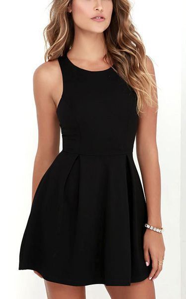 Cutout and About Black Skater Dress via @bestchicfashion