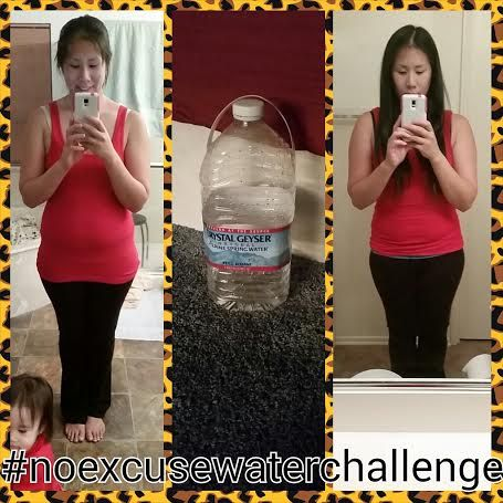 She drank ONE GALLON of water a day and look what happened!!  Challenge accepted. Already started my gallon. Here's to change and my body back!