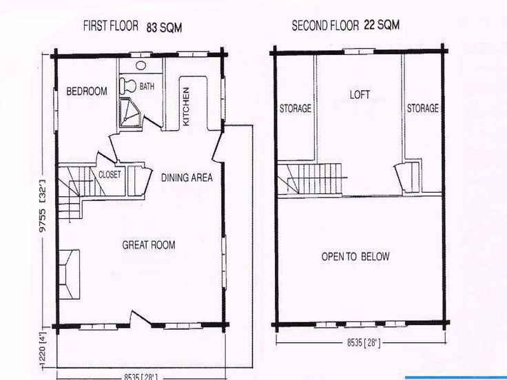 cabin floor plans with loft one room cabins small hunting free