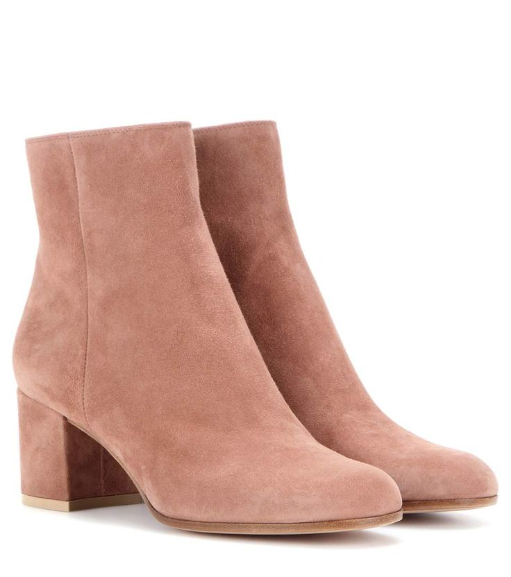 Margaux Mid light brown suede ankle boots