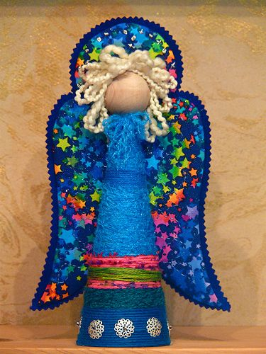making an angel - kids could do a simplified version