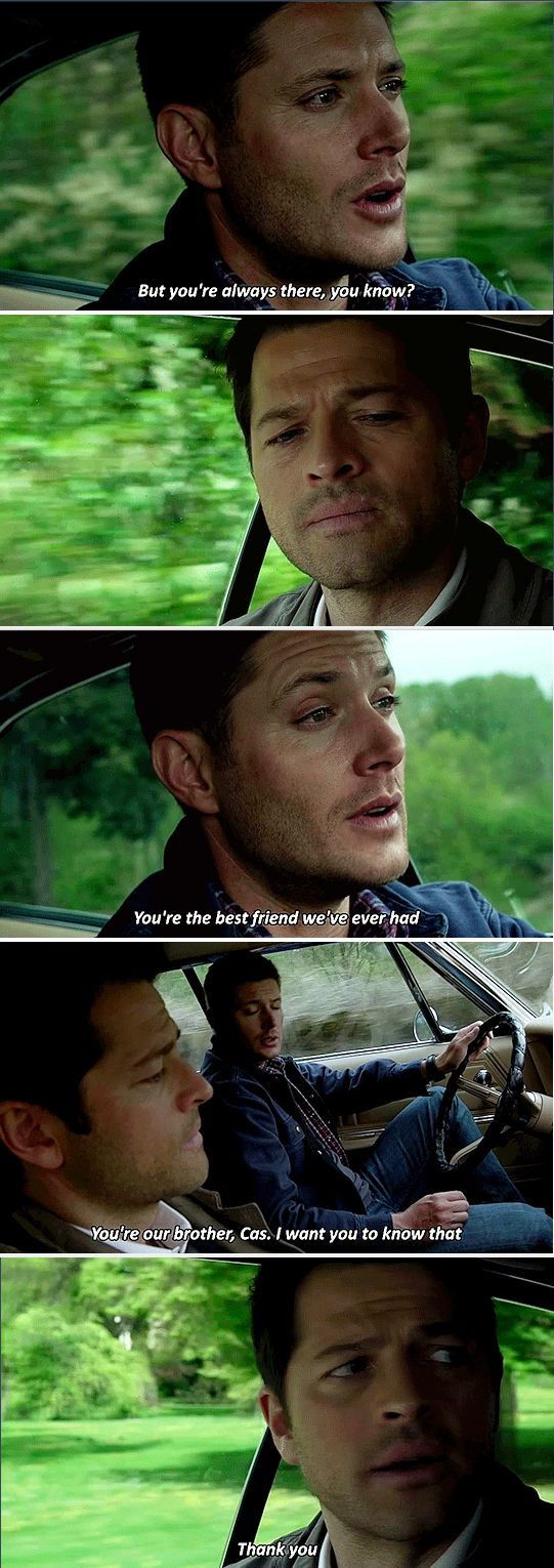11x23 Alpha and Omega // Dean and Cas<< Kinda hope this shuts up Destiel shippers but I doubt it