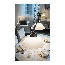 KROBY Pendant lamp-double, nickel plated, glass - IKEA