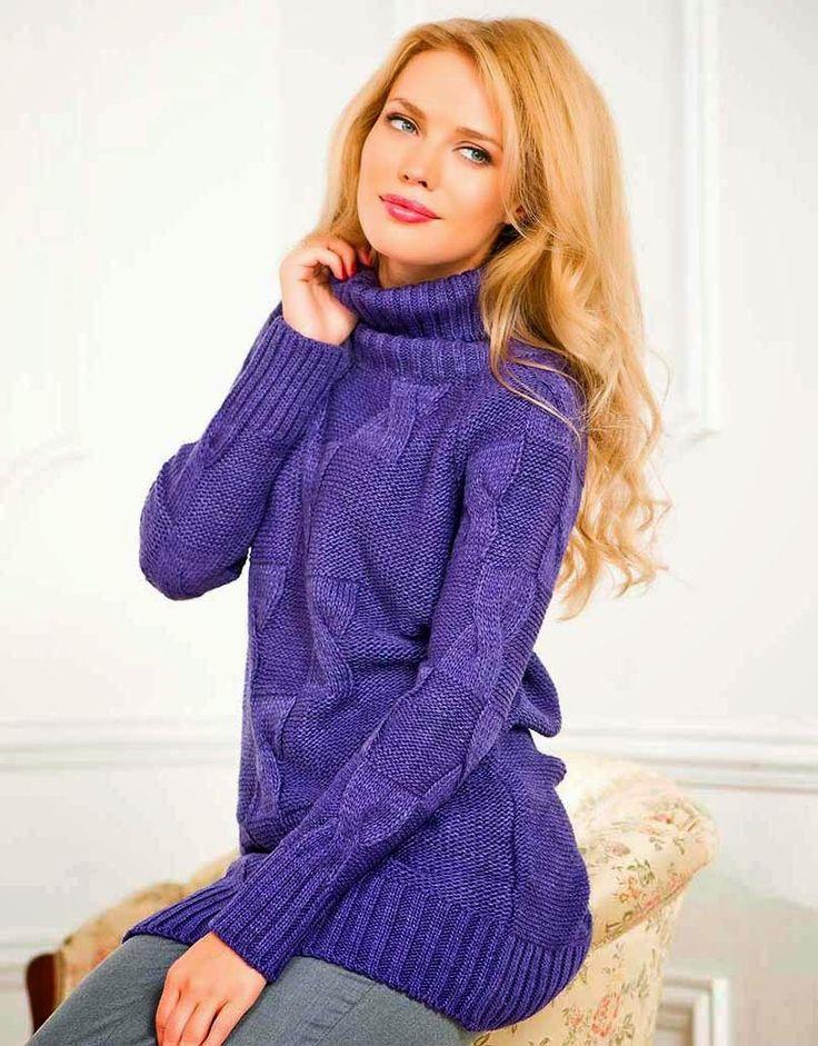 Модный свитер женский 2016 - 60 фото, вязаный свитер спицами | Lady in Network