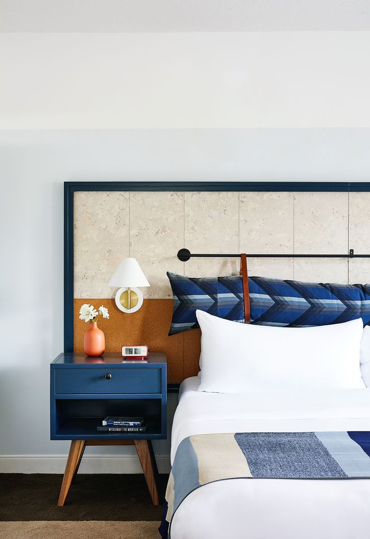 Three-hundred thread count sheets provide a good night's sleep, while rain showers and Grapefruit Sage products from the onsite spa contribute to a pampered experience.