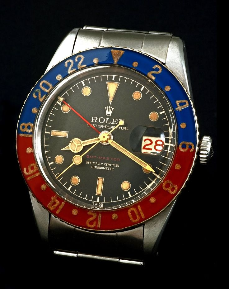 #Rolex #GMTMaster Circa #1955 - the year Rolex first sold the watch!
