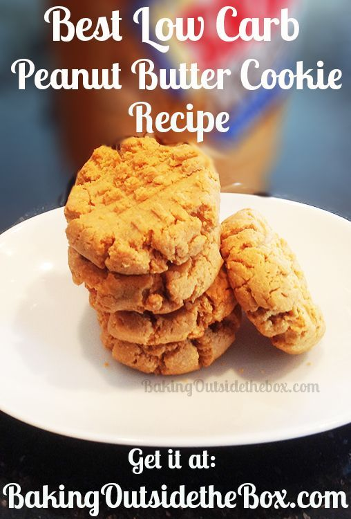 Baking Outside the Box: Low Carb Peanut Butter Cookies. Gluten free. These are so good.