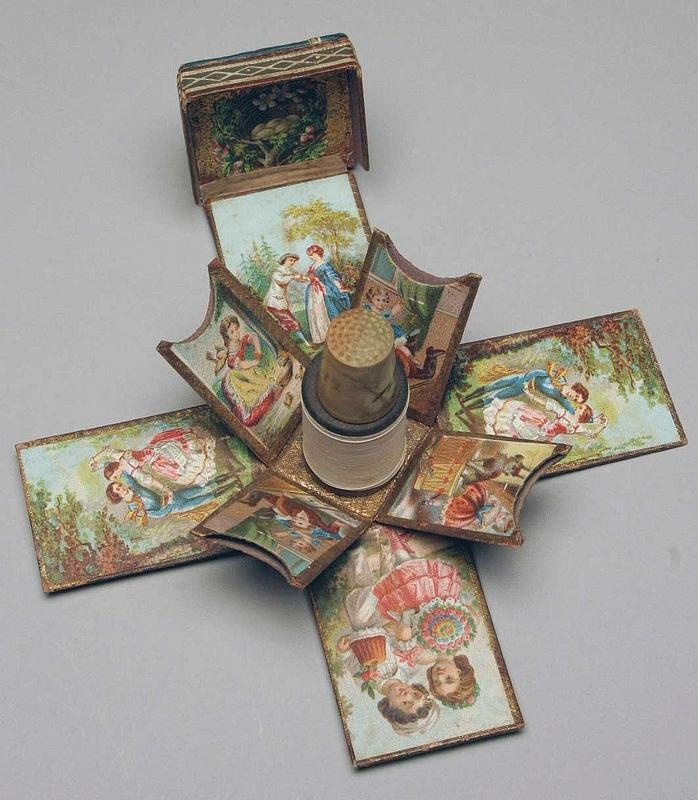 Victorian sewing needle packet holder