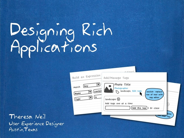 designing-rich-applications by Theresa Neil via Slideshare
