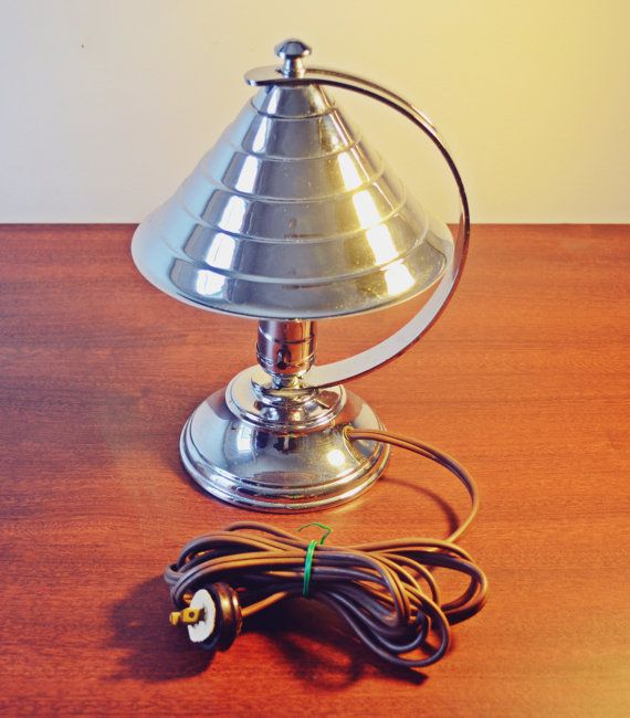 1930's Art Deco Table Lamp Coulter Toronto by Collectitorium