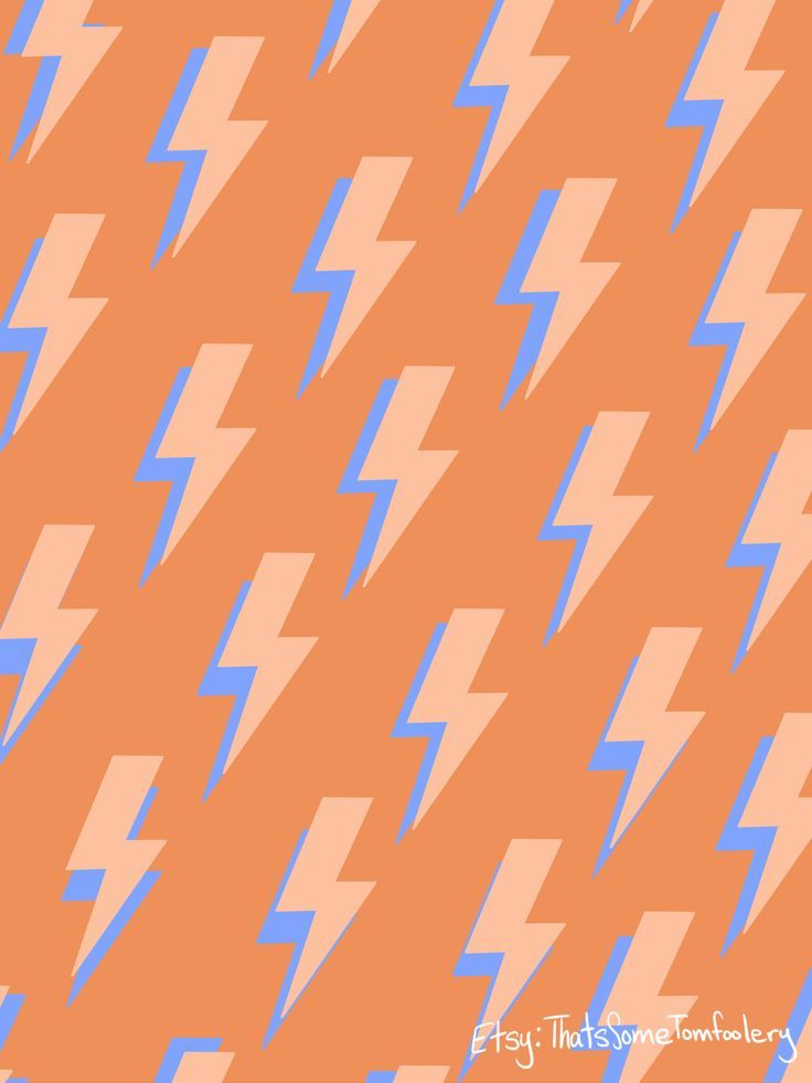 Lightning Bolt Pattern Orange And Blue In 2020 Photo Wall Collage Iphone Background Wallpaper Artsy Background