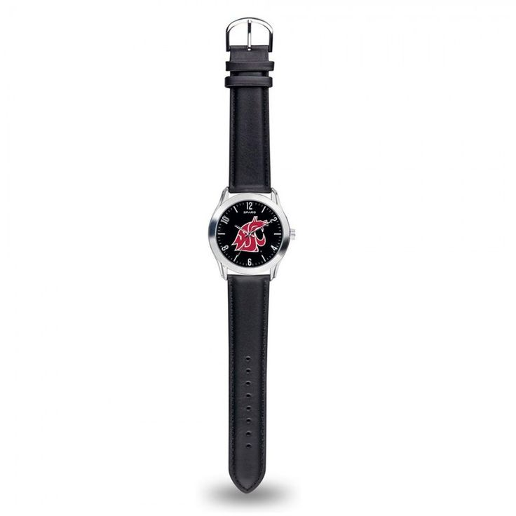 Washington State Cougars NCAA Classic Series Men's Watch  Brave the season with #Rico #Tag's #Classic #Watch. Silver tone hands display brightly against the attractive matte black dial featuring officially licensed team logo. Qualities include eye-catching shiny metal case and black genuine leather strap. Scratch resistant mineral crystal lens withstands everyday wear.