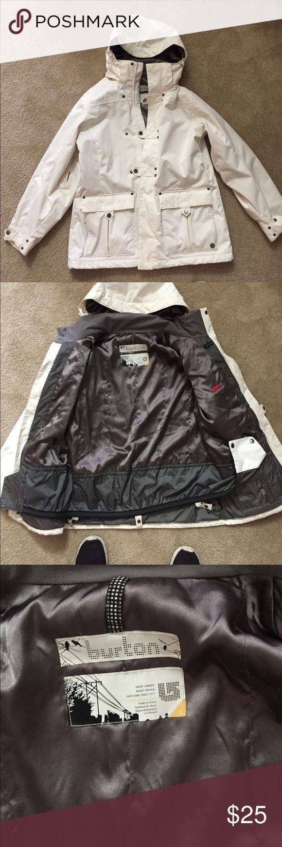 Burton white jacket Womens large burton jacket. Need a new one so I have to sell this. Smoke free very white. If you have it dry clean it will be brand new. Burton Jackets & Coats