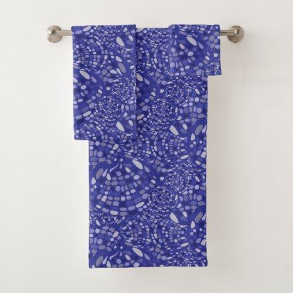 Freestyle Mosaic Pattern Bath Towel Set - trendy gifts cool gift ideas customize