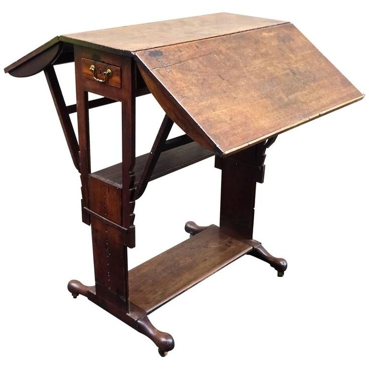 Exceptional Rare Early 18th Century English Walnut Industrial Drafting Table | From a unique collection of antique and modern industrial and work tables at https://www.1stdibs.com/furniture/tables/industrial-work-tables/