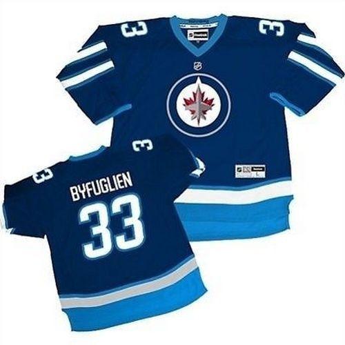 New Dustin Byfuglien # 33 Reebok Winnipeg Jets Replica Home Youth NHL Jersey