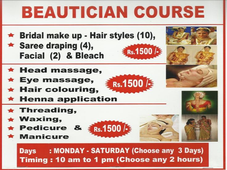 Beautician Course And Tailoring Workshop - Chennai Eventz