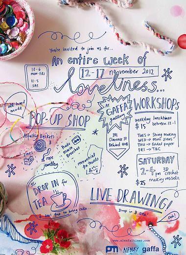 An entire week of loveliness!  pop up shop and workshops  www.alexfalkiner.com