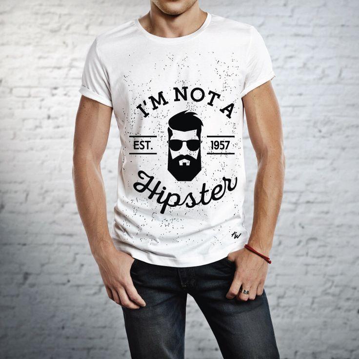 Men's Hipster T-shirt, I'm Not A Hipster T-shirt, Mens T-shirt, Men's Tshirt, Custom T-shirts, by KayBoutiq on Etsy https://www.etsy.com/listing/228862597/mens-hipster-t-shirt-im-not-a-hipster-t