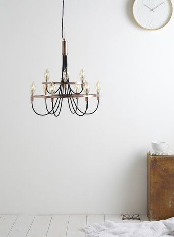 Copper+Frederica+Candelabra+Ceiling+Light