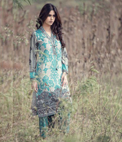 Maria B Embroidered Linen Suits collection BEIGE DL-310
