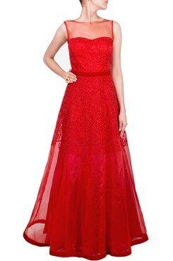 Buy Anarkali Gown Lehenga Midi Skirt Online by Nitya Bajaj