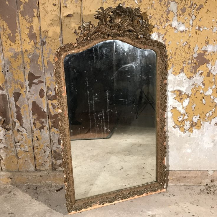 Really lovely original late 19th Century French gilt mirror, but it is 'distressed' and offered as you see it. The frame has a number of plaster mouldings missing, but it is still a very decorative mirror and has a great effect like this - the glass is original and will clean of course!The cost to restore the mouldings fully would be too high for me as a dealer, so therefore, I offer it as you see it, in distressed / shabby chic form.The quality is good and it's a great size ...