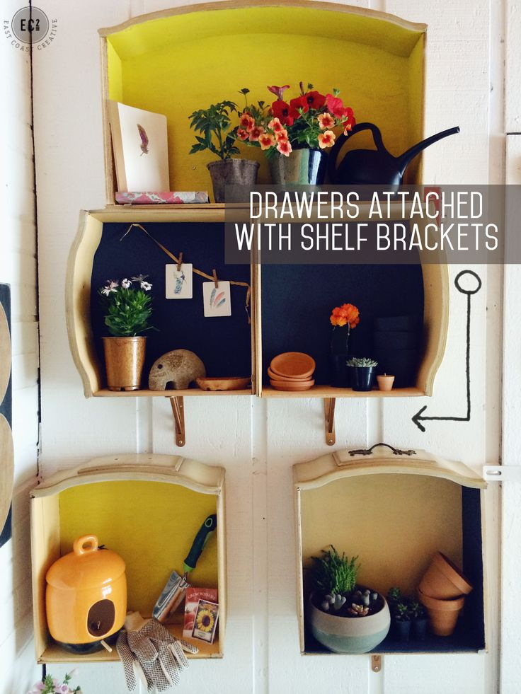 How to Make Wall Shelves out of Old Dresser Drawers
