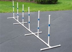 For the D-I-Y ( Do It Yourself ) individual, this kit includes all the materials except the PVC pipe necessary to build a a set of Dog Agility Weave Poles.