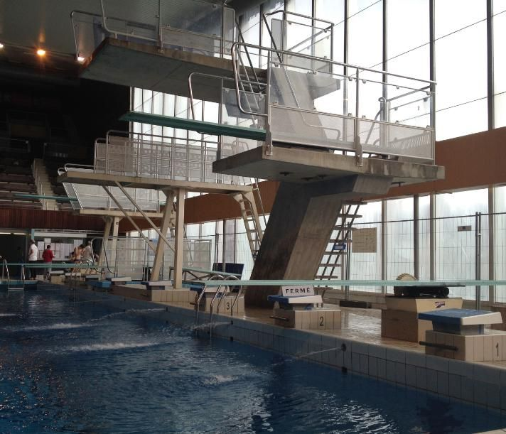LYON (69 - Rhône, France) - Piscine de Vaise - Installations de plongeon (Photo prise le 16/02/2015 par Daniel C.,Officiel national de plongeon à la Fédération Française de Natation).