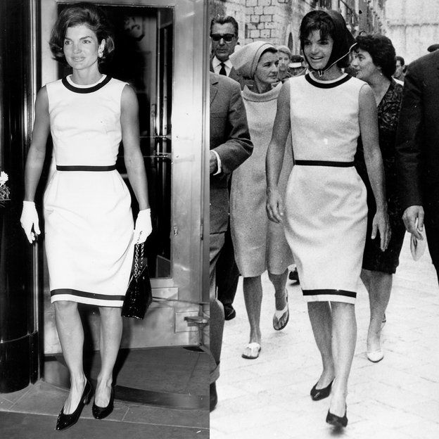 I love this dress on Jackie. It is so simple and perfect on her. It seems she wore it often