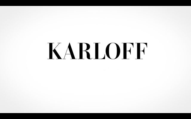 Karloff, convergence of beauty and ugliness by Thibault de Fournas. Animation: Thibault de Fournas & Christopher Wilson