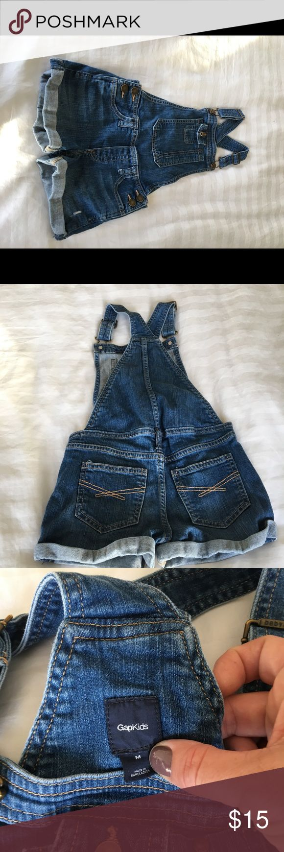Gap short jean overalls for girls size m Gap short jean overalls for girls size m GAP Bottoms Overalls
