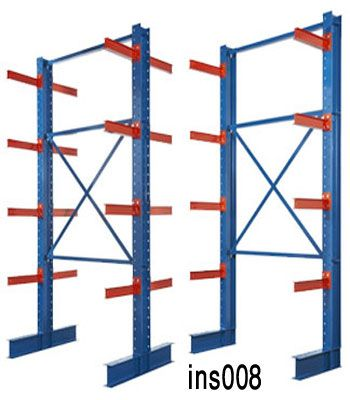 Cantilever Racking (008) ৳ 30,000.00–৳ 50,000.00 Categories: Industrial Furniture, Warehouse Shelving Tag: cantilever racking Model No : INS008 Paint : Powder coating Color : blue, white, red, yellow (also as your requirements) Layer : 4 Layer (capacity 200kg per layer) Materials : Mile Steel Sizes : L1200/1500/1800*D600/800*H1500/1800/2000/2500/3000 mm or As your requirement Metal type : Ms Angle/U Channel/ms sheet Delivery Time : 15-25 Days Shipme