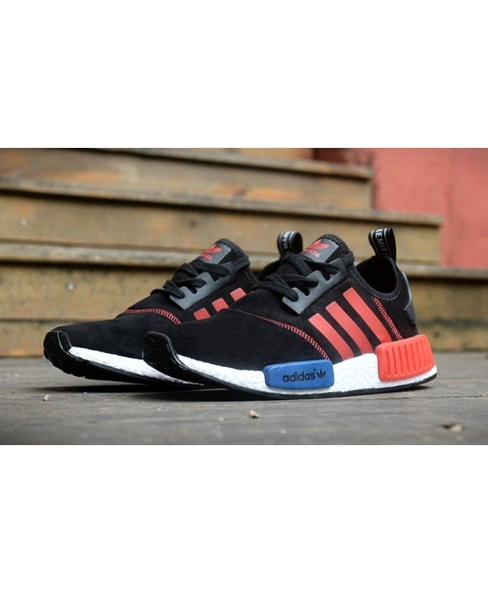 discount sport shoes adidas nmd men fur black red blue hot sell