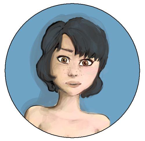 Mery round portrait by HARuNIS.deviantart.com on @DeviantArt
